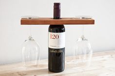 Wine & Glass Wood Stand Bar  In Natural Cedar by natemadegoods, $25.00