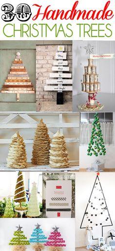 30 Handmade Christmas Trees on { lilluna.com }