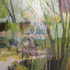 "Judith Bergerson, Summer Morning, 36"" x 36"", acrylic on canvas"