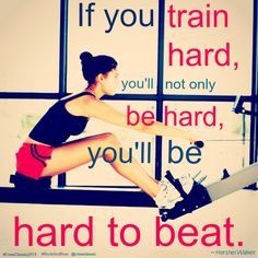 "#Motivation #Monday ""If you train hard, you'll not only be hard, you'll be hard to beat."" ~Hershel Walker #Quote #rowing #RockAndRow"