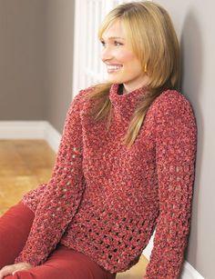 Pullover | Yarn | Free Crochet Patterns | Yarnspirations