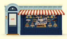 Sugar Mama by David Sierra, via Behance