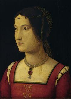 1500 Portrait of a Lady by Zaganelli Bernardino da Cotignola, oil on wood (33 x 25 cm) - Liechtenstein GE935