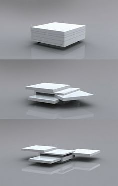 Between The Lines expandable coffee table concept