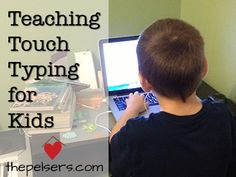 Teaching Touch Typing for Kids with TypeKids.com. Online typing program that learns what your kids need more help with. At ThePelsers.com