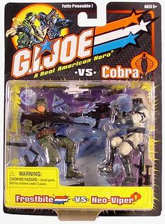 """GI Joe v Cobra 2002 Frostbite / Neo Viper (Repaint) arah 20th 3 3/4"""" 2-Pack 1:18    In stock @DCCollectibles (click image to buy now). Combined orders $69 or higher (2 or more items) ship for FREE. Continental USA only."""