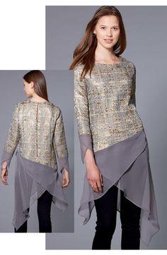 Contrasting Hem Tunic Dress   McCall Pattern Company M7689   by Nancy Zieman   Sewing With Nancy