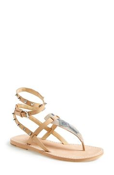 Ash 'Pam' Studded Ankle Strap Sandal (Women) available at #Nordstrom