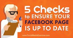 Are you using a Facebook page for marketing? In this article, you'll discover five checks to ensure your Facebook page is up to date. http://qoo.ly/6he29/0
