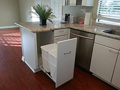 Replace a Trash compactor with a pull out trash and recycling unit.