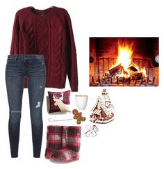 """""""warm by the fire // can't wait for Christmas"""" by ladzip13 ❤ liked on Polyvore featuring Bedroom Athletics, Retrò, Black Orchid, Pier 1 Imports, Kurt Adler, Wilton and Williams-Sonoma"""
