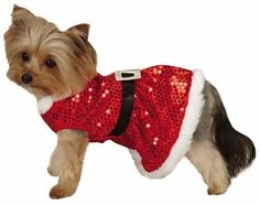 Zack & Zoey Mrs Claus Sequin Dress Red for Dogs - SMALL dog dress - $12.99