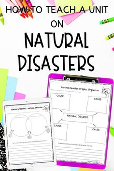 Teaching about natural disasters in the elementary classroom? Click the pin to check out these natural disasters activities for kids and all the tips and ideas for how to teach about them effectively! Elementary Science Classroom, Middle School Classroom, Teaching Kindergarten, Elementary Education, Upper Elementary, Earth Science Activities, Science Curriculum, Science Resources, Activities For Kids