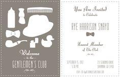 free, invite, pdf, birthday, party, baby, announcement, shower, brown, gentleman, bow-tie, mad men