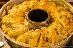 Knoblauch Käse Kräuter Brot