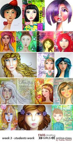 FACEcinating Girls - Online Class Students Work - Week 3 - http://andrea-gomoll.de/classes/