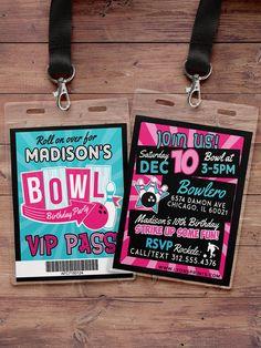 Bowling  Bowling cumpleaños partido invita  invitación niño