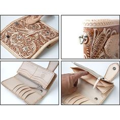 Rakuten: ゴダン (^ ゝ ω,) saddle leather carving long wallet / onyx / long wallet (spcw6007sTan)- Shopping Japanese products from Japan