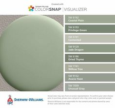 Green Paint Colors, Wall Paint Colors, Interior Paint Colors, Paint Colors For Home, Room Paint, Green Bedroom Colors, Gray Color, Sage Color, Neutral Colors