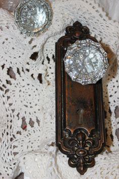 1910s Complete Door Knob Set MINT CONDITION. $34.95, Via Etsy.   I Love