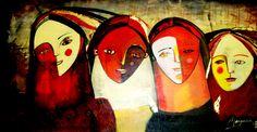 Vanina Margaría pinturas  Féminas guardianas