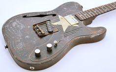 James Trussart Deluxe SteelCaster Rust O Matic Cream Star #14037 GuitarGuitar.co.uk - £3,149