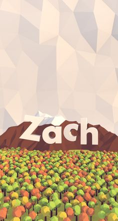 LowPoly iPhone wallpaper w/ name zach
