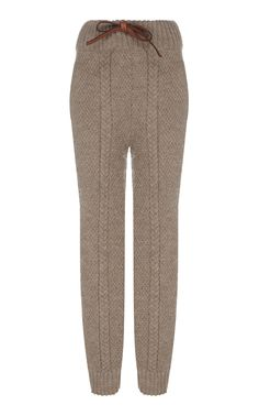 This **Tuinch** Knit Trousers features a high rise waist, a bow detail, and a rib knit waist and ankles. Woolen Dresses, Crochet Shorts, Casual Outfits, Fashion Outfits, Knit Pants, Pants Pattern, Knit Fashion, Cozy Sweaters, Trousers Women