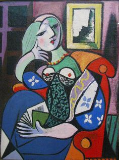 "lonequixote: "" Pablo Picasso Woman with Book """