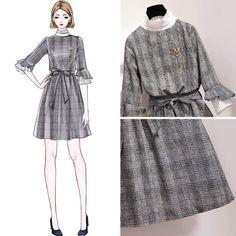 Cute Fashion, Look Fashion, Fashion Art, Fashion Beauty, Girl Fashion, Fashion Dresses, Womens Fashion, Korean Street Fashion, Asian Fashion