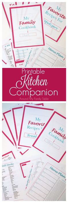 Printable Kitchen Companion - Free with Live Fire BBQ & Beyond cookbook purchase- Around My Family Table