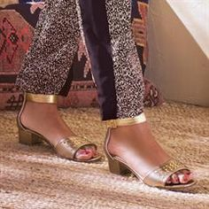 Cushion Walk® Mixed Metals Studded Sandal