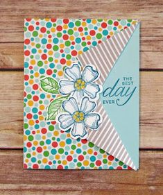 Debbie's Stampin' Spot: Best Day Ever Collar Fold Technique Card