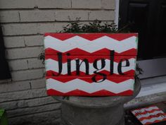 Jingle Christmas Chevron Wooden Sign by BohemianCrackerjack, $12.00 Holiday Fun, Holiday Ideas, Christmas Holidays, Christmas Ideas, Merry Christmas, Christmas Decorations, Xmas, Pallet Wood Christmas, Christmas Wood Crafts