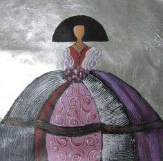 BLOG DE PLÁSTICA Y MANUALIDADES EN PRIMARIA.: LAS MENINAS Diy Projects To Try, Art Projects, Scrapbooking Image, Diy And Crafts, Arts And Crafts, Ceramic Figures, Silk Painting, Acrylic Art, Illustrations