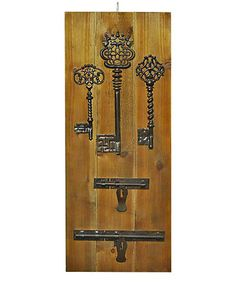 Look what I found on #zulily! Gray Weathered Key Wall Art #zulilyfinds