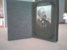 DIY Kindle cover -- upcycled book! Definitely trying this with a copy of a Nancy Drew book from COSCO :)