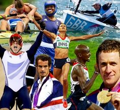 A montage of Great Britain's London 2012 gold medal winners