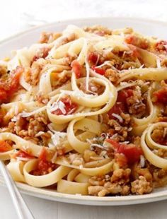 Fettuccine With Quick Ragu - This truly is a delicious pasta, I really love it.