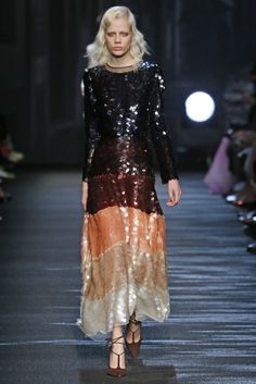 Milan Fall 2016 Trends | All-over sequins at Blumarine RTW Fall 2016 #MFW [Photo: Giovanni Giannoni]