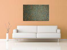 "***SOLD***ABORIGINAL ART PAINTING by GLORIA PETYARRE ""BUSH MEDICINE LEAVES"" 151 x 91 cm"