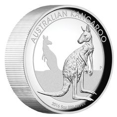 Australia's most famous animal symbol, the kangaroo is found throughout the vast island continent | Australian Kangaroo 2016 5oz Silver Proof High Relief Coin | The Perth Mint
