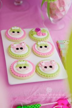 Adorable fondant topped Lalaloopsy cookies #lalaloopsy #cookie