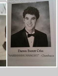 Seniors' favorite inspirational quotes. Darren Criss wins at life.