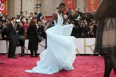 Lupita twirled her dress on the Oscars red carpet