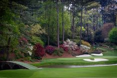 """""""Amen Corner Augusta Georgia Golf Golfers"""" by Cris Hayes Golf Images, Golf Pictures, Frames On Wall, Framed Wall Art, Wall Art Prints, Golf With Friends, Augusta Golf, Golf Pga, Augusta Georgia"""