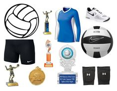 """""""Willow-Club Volleyball"""" by jadynmrichmond on Polyvore featuring NIKE, Under Armour and Olympia"""
