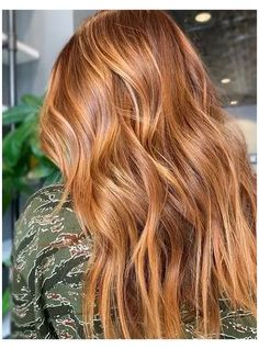 natural red hair balayage
