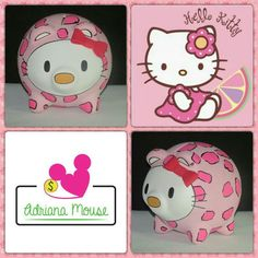 Hello Kitty Hello Kitty, Snoopy, Fictional Characters, Easy Crafts, Roof Tiles, Fiestas, Fantasy Characters