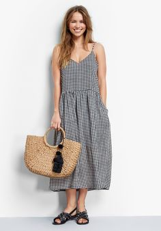 Buy Tori Anne Dress from Hush: This cool gingham dress will whisk you through summer in style. Just add a leather jacket and metallic sandals for a casually chic week-to-weekend look.